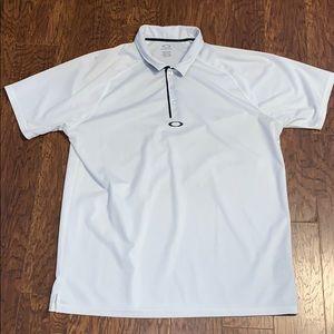 Men's Oakley White/Blk Golf Polo Sz XXL